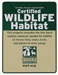 Certified Wildlife Backyard Habitat