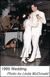 Rosemarie dances with Mark at their wedding - 1995