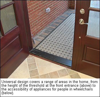 universal designed no threshold entryway - Universal Design Homes