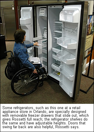 a side door refrigerator - Universal Design Homes