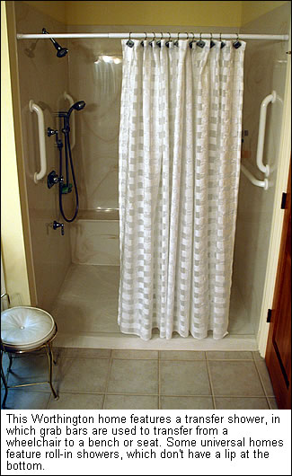 A transfer shower
