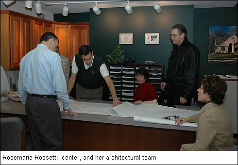 Rosemarie Rossetti and her architectural team