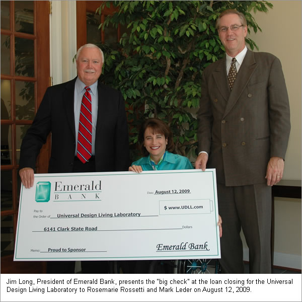 Universal Design Living Laboratory - Emerald Bank Loan Closing